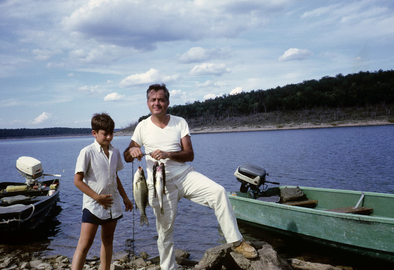 Joey and Jimmy Gillerman and fish