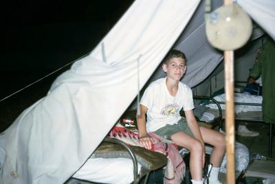 Ruben in tent