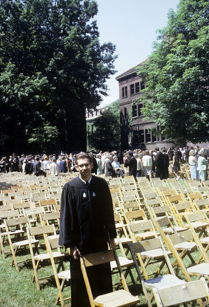 When will they call my name?  Graduation Harvard College, 1965