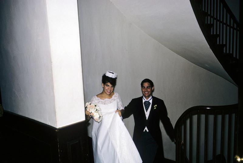 Jackie in wedding dress Harvard Cambridge 1965 graduation