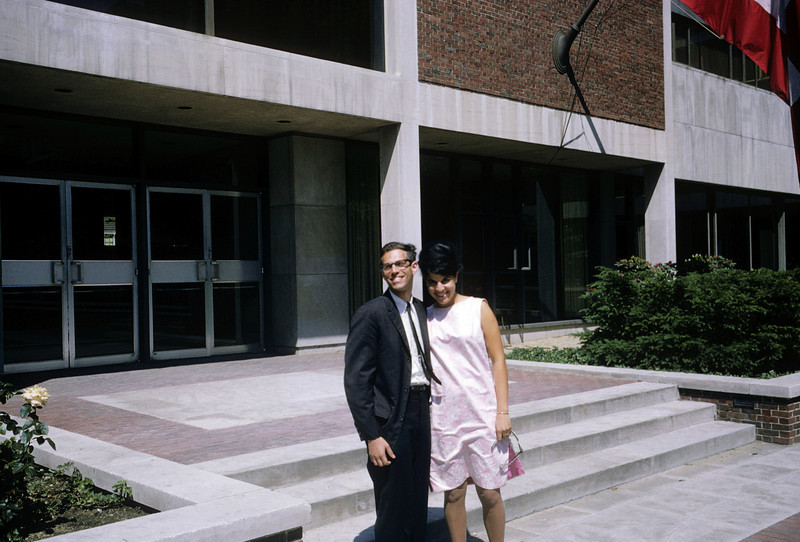 Dick with Jackie, roommate's girlfriend and wife Harvard Cambridge 1965 graduation