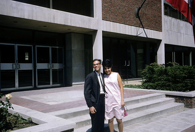 Dick with Jackie, roommate's girlfriend and wife Harvard Cambridge 1965 graduation