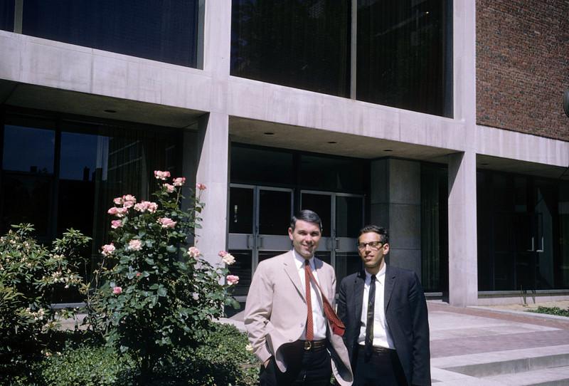 Dick with mentor Garland Allen Harvard Cambridge 1965 graduation