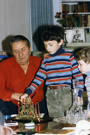 Hanukah 1985 all 3 sons Mel Ben and Matt
