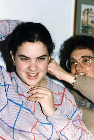 Hanukah 1985 all 3 sons Rachel Jameton Beth