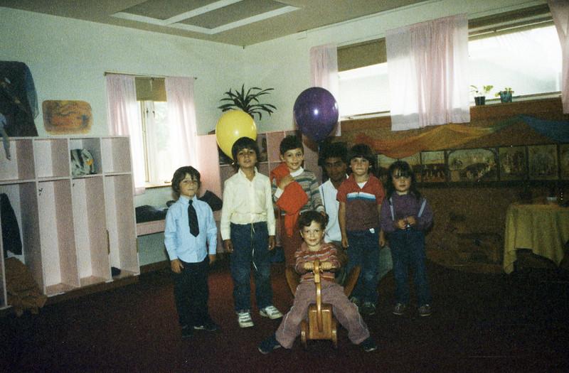 Ben and Matt Roman and classmates