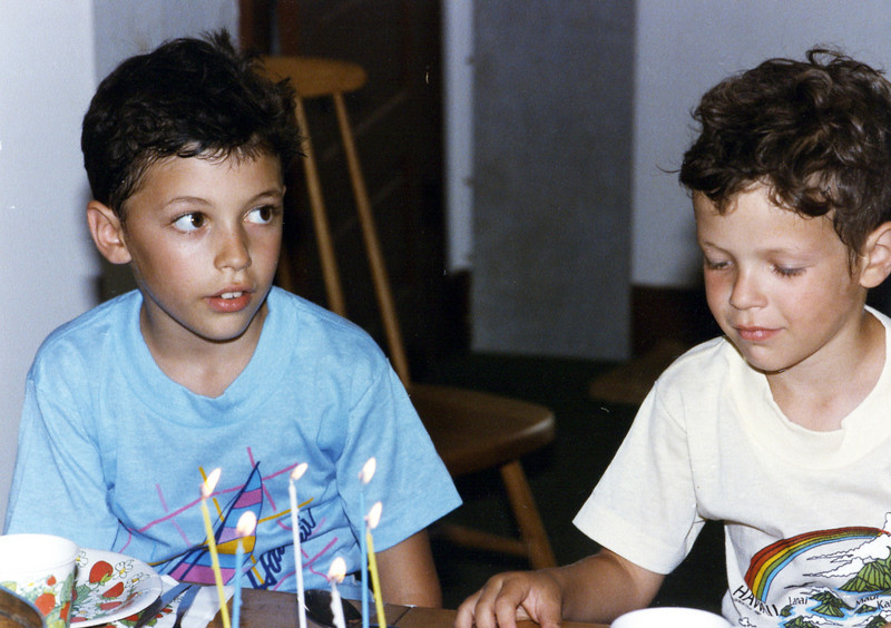 Matt's birthday, 1986
