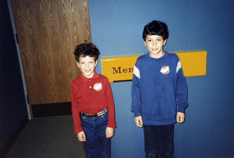 Ben and Matt pretending to be Men