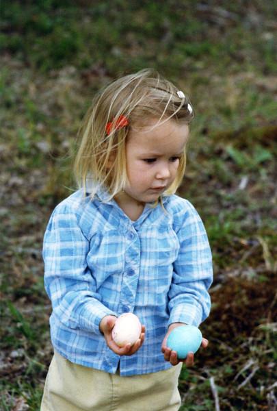 Sara Rose found the eggs