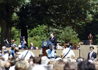President Reagan speaks