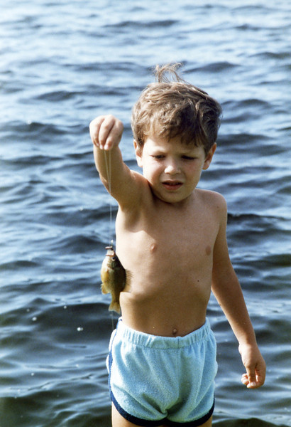 Matt and first fish