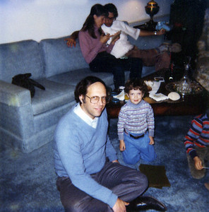 Dick with Matt and Ben, 1980 or so