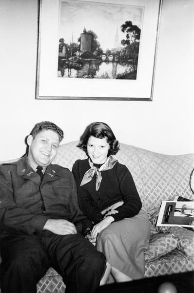Sandy and Gloria Spitzer around 1950