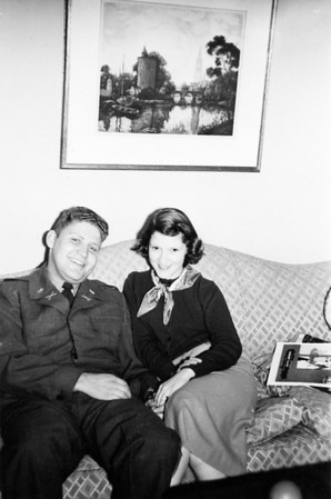 Sandy and Gloria Spitzer around 1950