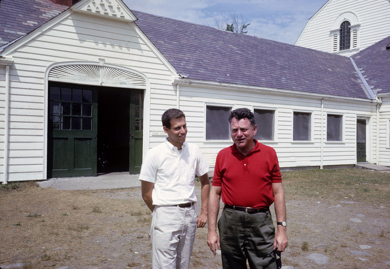Dick with camp director of Sciences and Arts camp, 1963