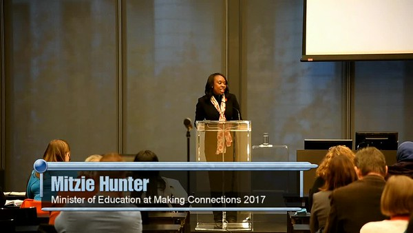 PM Mitzie Hunter, Minister of Education for Ontario - part 1
