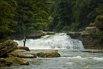 Swallow Falls Fisherman
