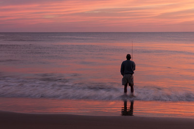 Sunrise Fisherman at Nags Head Pier