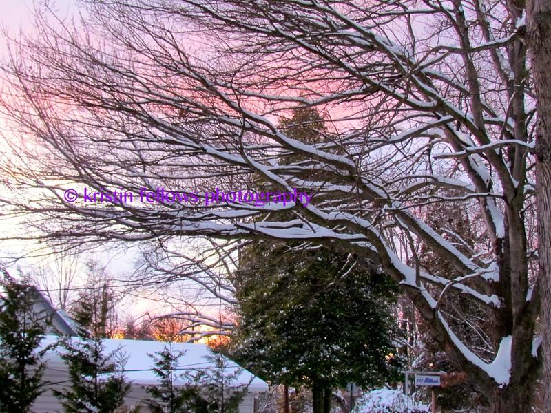 sunset snow
