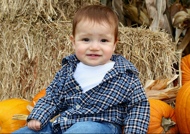Ethan in October of 07, at the farm in Orland.