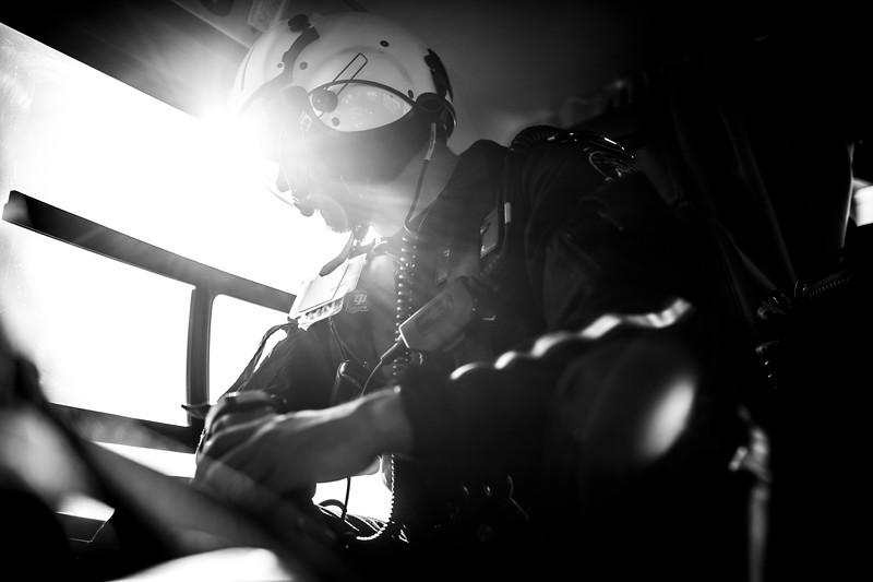 LifeLine 3 based out of Terre Haute with crew members: Justin Steele (RN BSN CEN CFRN), Levi Lynn (FPC) and Dan Lane (Pilot). (IU Health/Evan De Stefano)