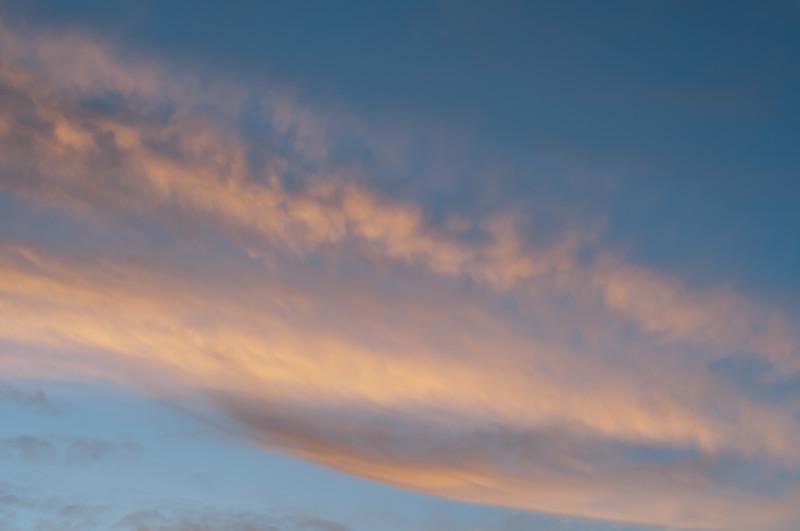 Pretty short sunset clouds