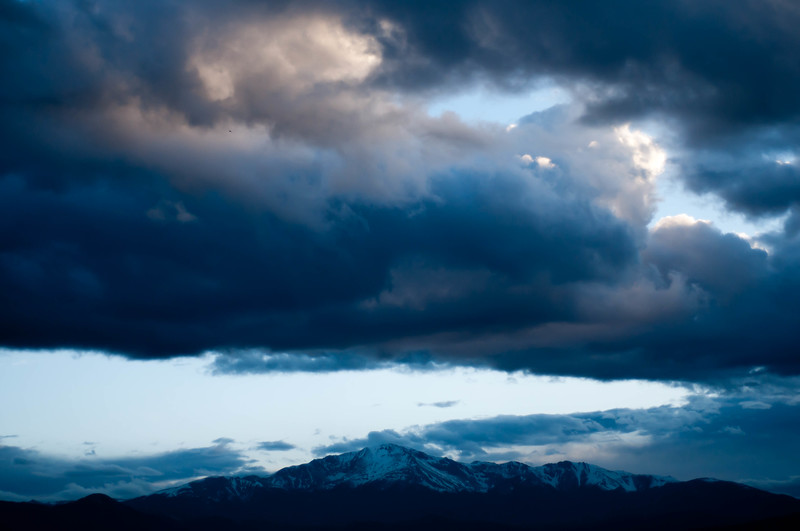 Pikes under the clouds