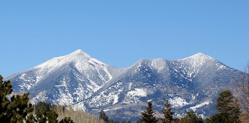 San Francisco Peaks from town