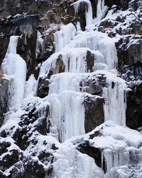 Frozen Rock Faces