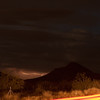 Lightning with car streak