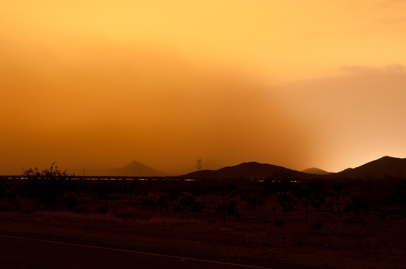 Dust Storm at night