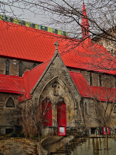 red roof church