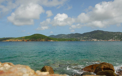 A view from St. Thomas, U.S. Virgin Islands.