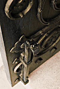 A door locker at the National Cathedral in Washington D.C.