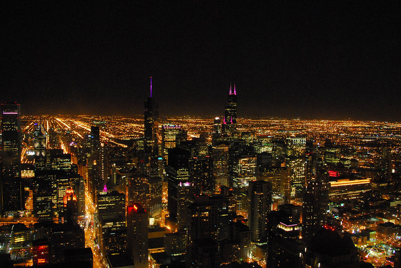 Chicago at night, without all the hype.