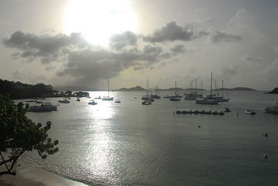St. John, U.S. Virgin Islands.  A short time later, we were hit by that storm as we departed St. John for St. Thomas (we rode on the observation deck of the boat).  That's why I bring a waterproof bag for the camera just about wherever I go.