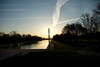 Washington Monument, Washington, D.C., via the Reflecting Pond while standing in front of the Lincoln Memorial