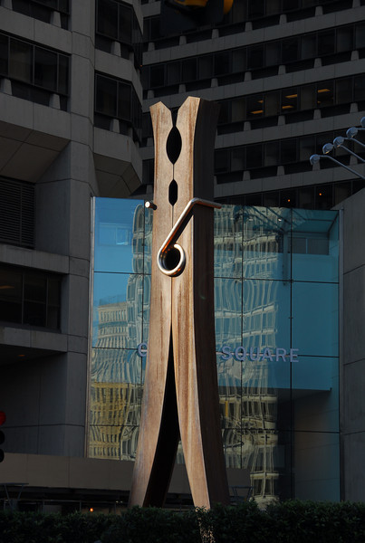 Philadelphia.  The clothespin capital of the world.  (Probably not, but it's the only city I've ever seen one on display as art.)