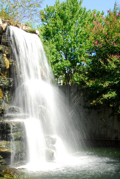 A waterfall at the National Zoo in Washington, D.C.