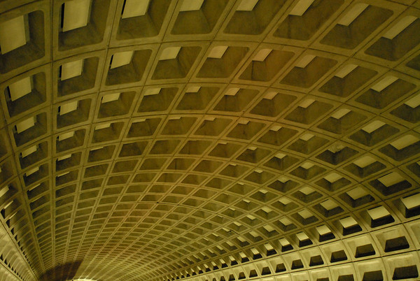 The iconic D.C. metro station ceiling.