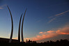 United States Air Force Memorial in Arlington, Virginia, with some extra spires way up there.