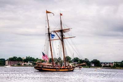 Two Mast Wooden Schooner