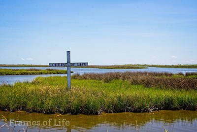 Christ is Life Cross on Tangier Island