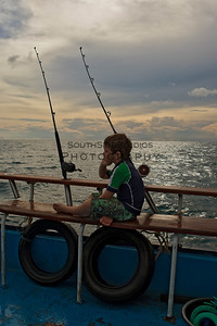 Sunset after a long day Deep Sea Fishing Phuket