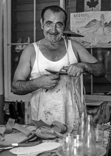 Corfu, Greece: George the Sandlemaker.