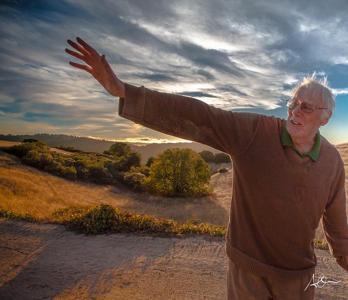 Monte Bello, Calif:  Poet Laureate Nils Peterson.