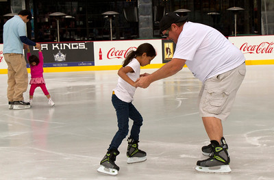 LA Live open ice skating