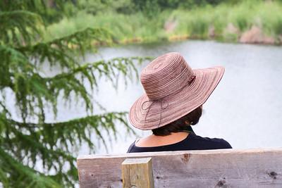 Kathy at Franklin Canyon