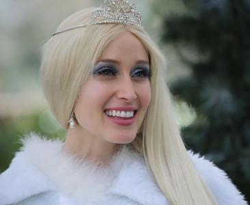 Snow Princess at LA Zoo Snow Days