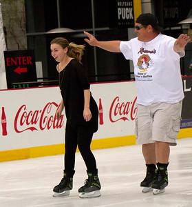 LA Live open ice skating